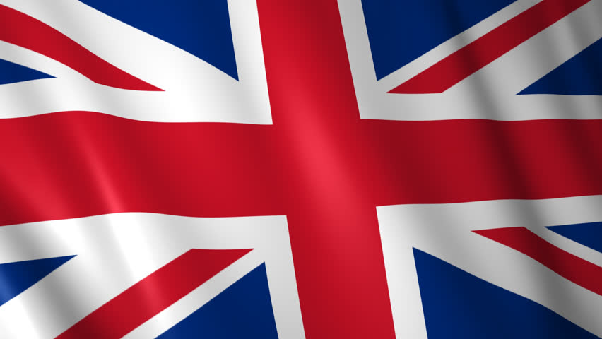 the flag of the united kingdom waving in the wind - high definition, 30 fps