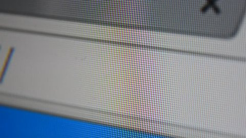 http www address bar. Close up of mouse cursor typing in web browser address bar