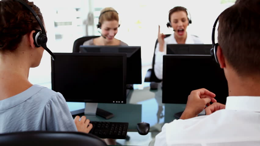 Business people working in a business call centre | Shutterstock HD Video #3997306