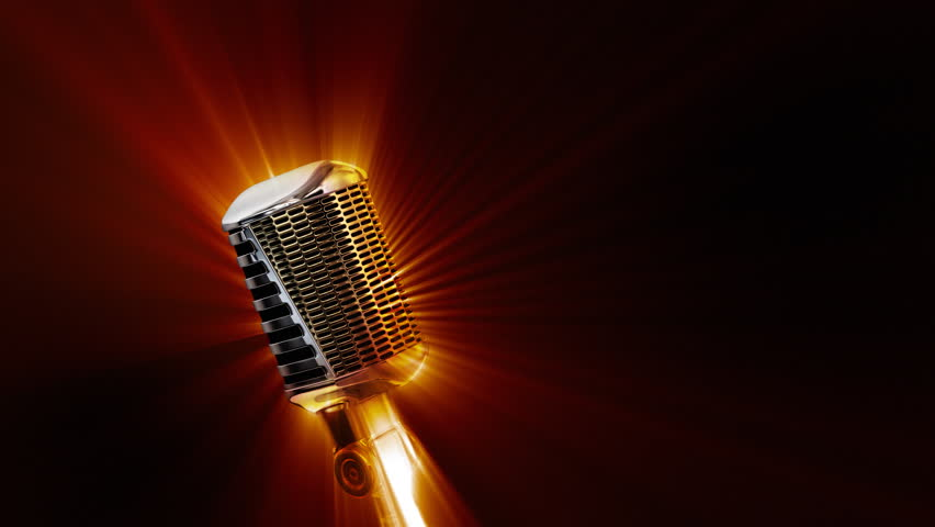 Retro Microphone with Shine Stock Footage Video (100%