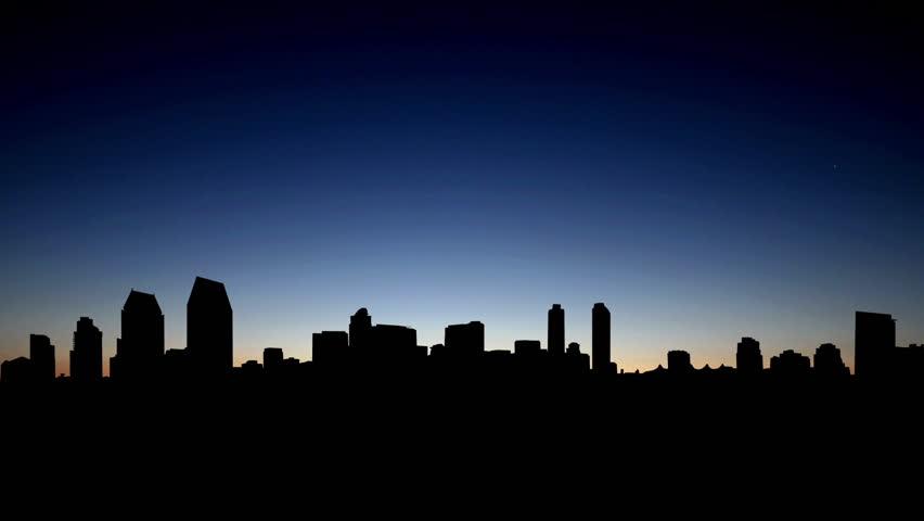 San Diego skyline during sunrise   | Shutterstock HD Video #4064704