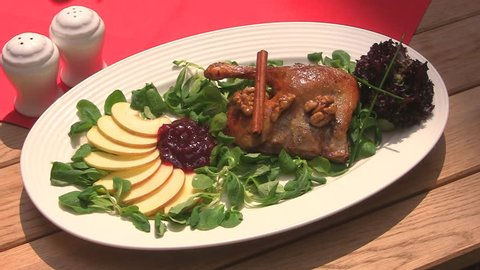 Duck dish on plate