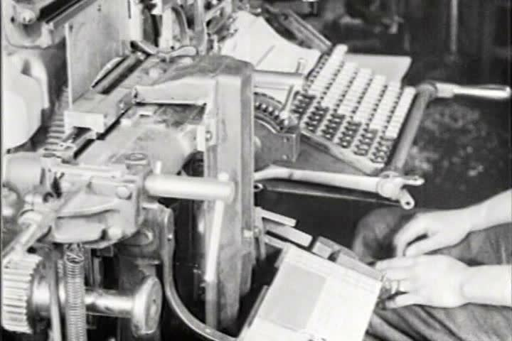 1910s - The workings of a modern newsroom in 1919.
