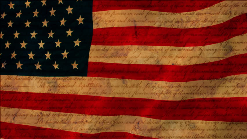 Stock video clip of american flag with declaration of independence stock video clip of american flag with declaration of independence parchment shutterstock voltagebd Gallery