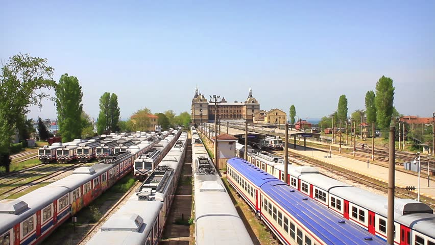 Haydarpasa main train depot. Haydarpasa Central Station Building in Istanbul,