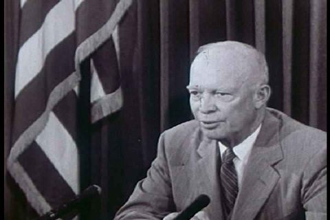 1950s - Dwight Eisenhower announces the opening of the Shippingport nuclear power plant in 1958.