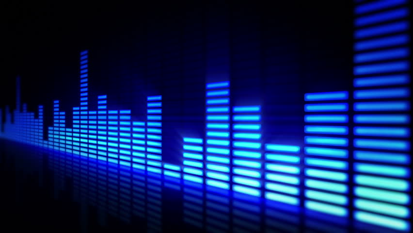 Music Equalizer Wallpaper: Blue Equalizer With Lens Flare Stock Footage Video 975022