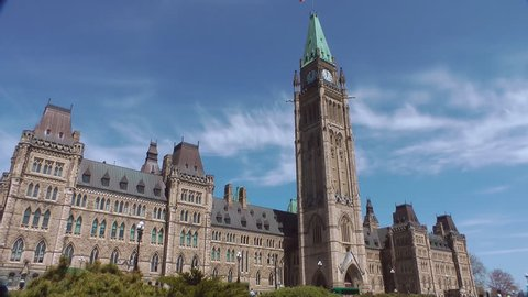 Time Lapse Of The Canadian Peace Tower Clock On Parliament Hill Ottawa Canada