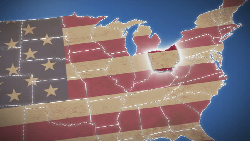 D Map Usa Stock Footage Video Shutterstock - Hd us map background