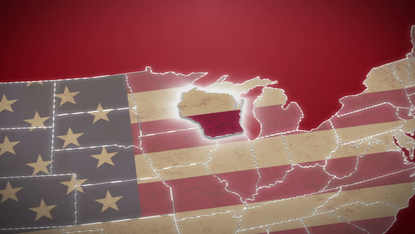 USA Map Michigan Pull Out No Signs Or Letters So You Can Insert