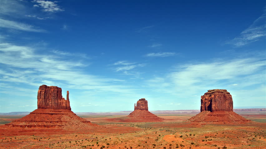 beautiful view of Monument valley panorama, time lapse