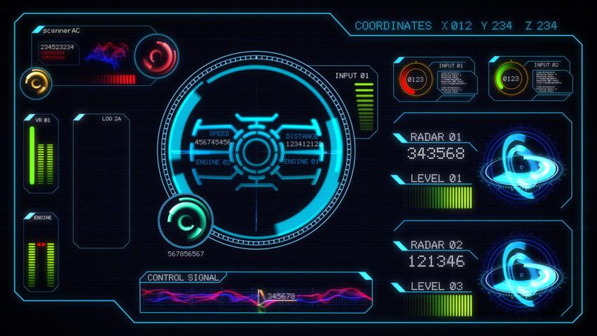 Futuristic alarm control keypad. Entering correct access code on alarm control keypad | Shutterstock HD Video #4357556