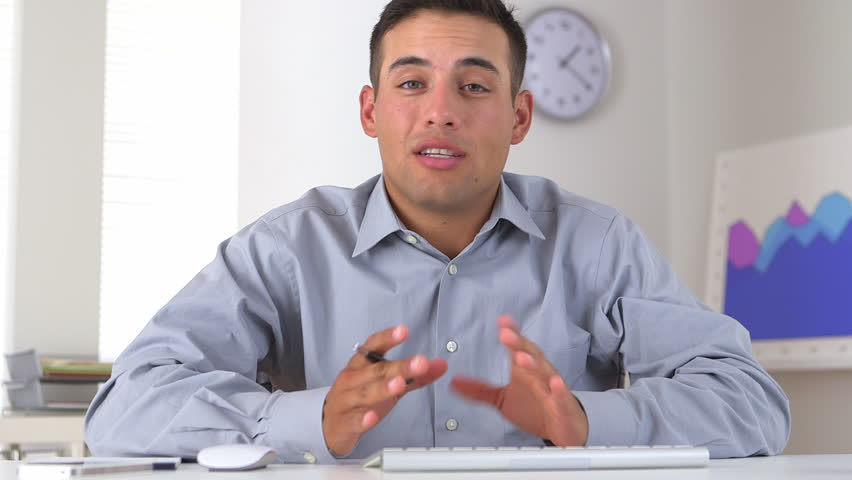 Video conference with Hispanic business man | Shutterstock HD Video #4377884