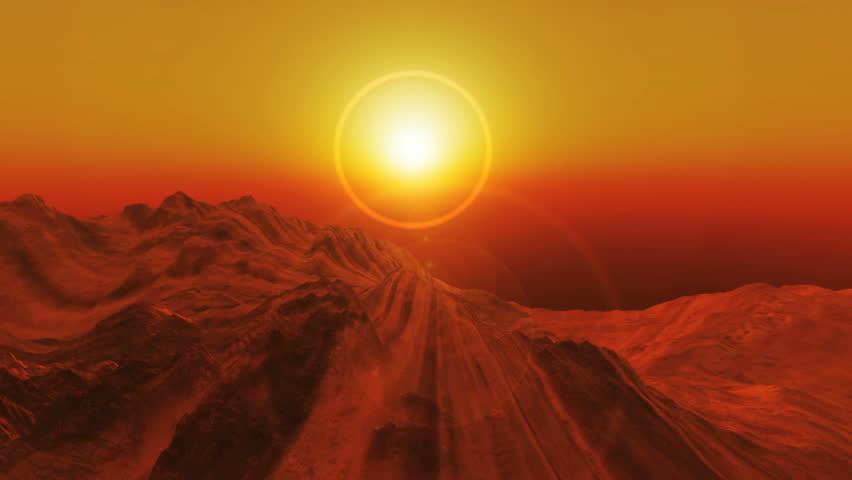 Planet fly in mars | Shutterstock HD Video #4383464