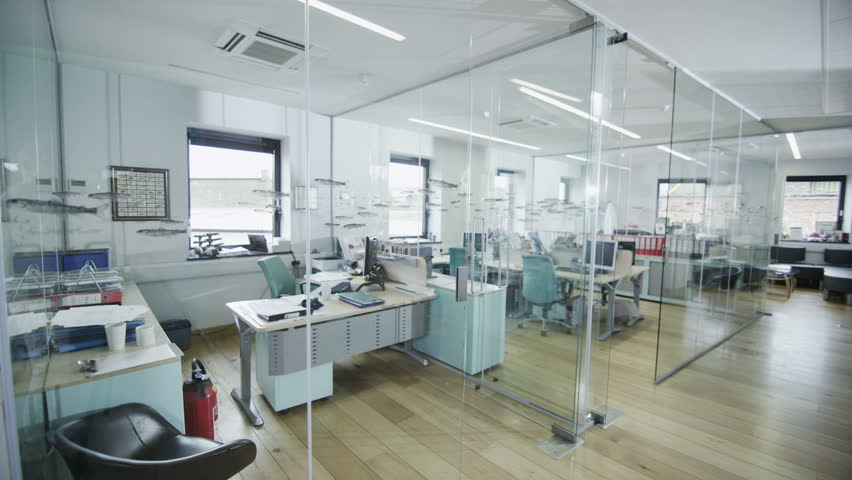 View around a stylish contemporary office space with no people