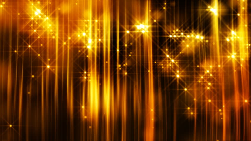 Abstract motion background in gold colors, shining lights, energy waves  and sparkling  particles, seamless looping. | Shutterstock HD Video #4406957