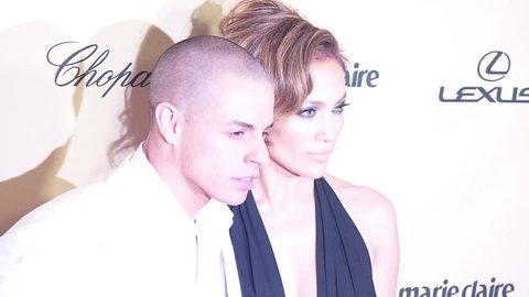 BEVERLY HILLS - January 13, 2013: Casper Smart and Jennifer Lopez at the Weinstein Company's 2013 Golden Globe After Party in the Beverly Hilton Hotel in Beverly Hills January 13, 2013