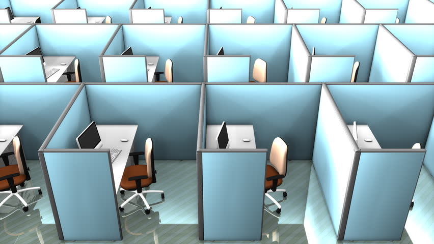 Office cubicles.