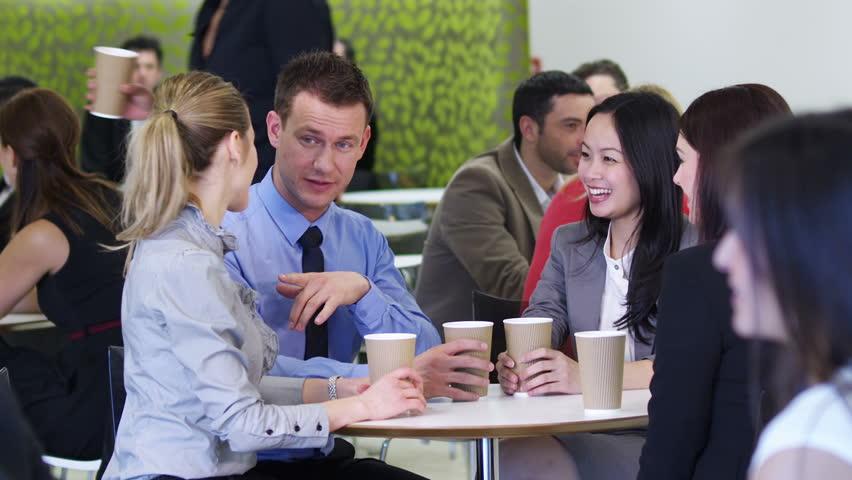 Coffee Break Meeting Corporate Office Business People