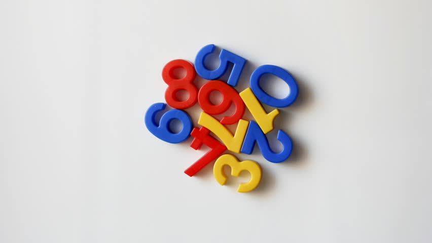 number shapes kitchen magnets moving around