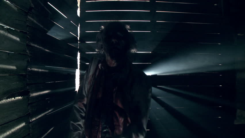 Hungry undead zombie walks towards camera  | Shutterstock HD Video #4498796