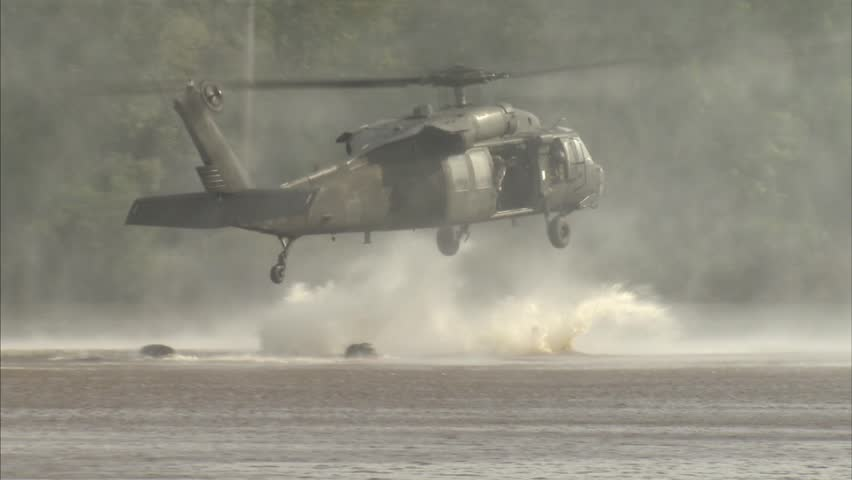 Military, Special operation soldiers jumping from helicopter | Shutterstock HD Video #4503515
