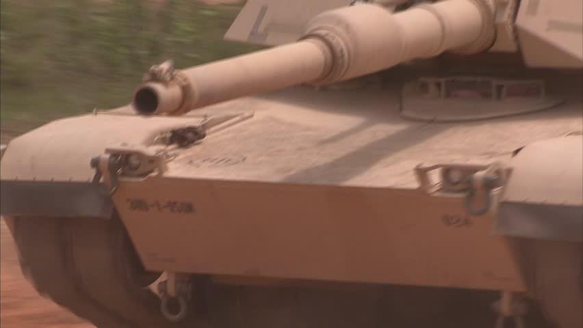 Military, Various tank driving shots