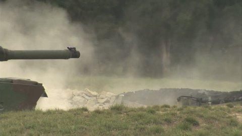 Military, Tank firing