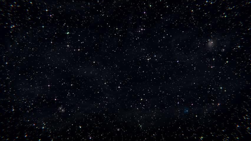 loop night sky with stars
