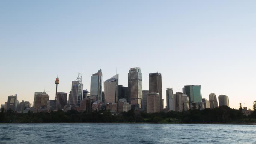 Sydney city skyline day to night timelapse.