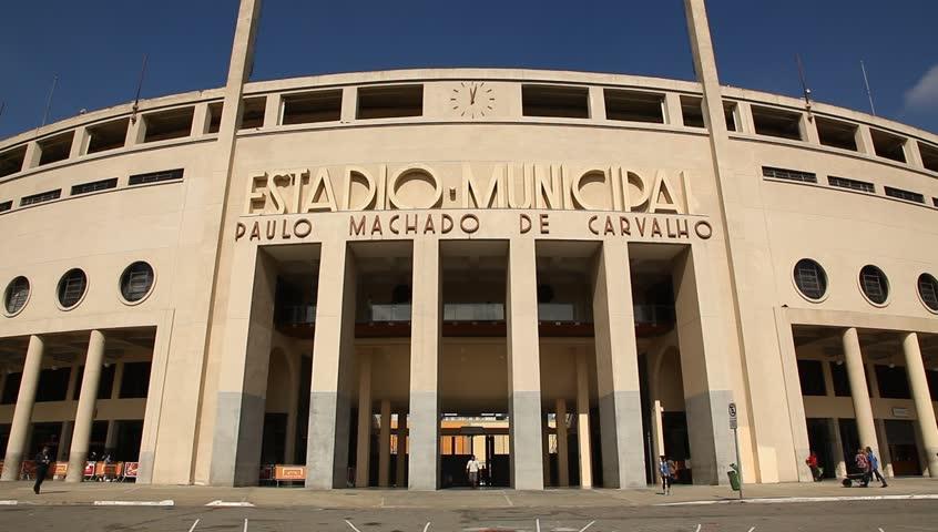 SAO PAULO, BRAZIL – JULY 11: Estadio Municipal Paulo Machado de Carvalho, also known as Estadio do Pacaembu. Sao Paulo, Brazil, July 11, 2013.