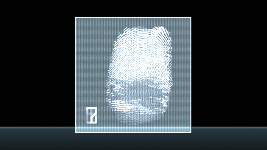 Fingerprint test - digital animation | Shutterstock HD Video #456274