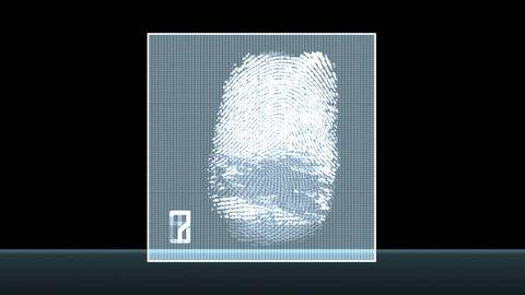 Fingerprint test - digital animation