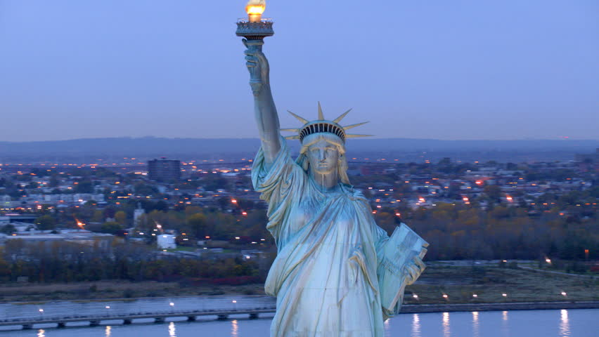 Statue of Liberty at dusk