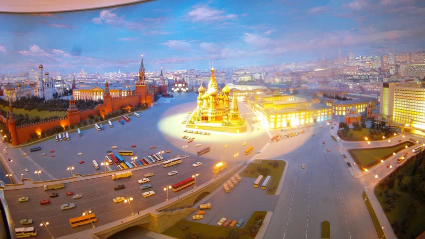 Classical view of Moscow and Kremlin with Saint Basil Church, timelapse | Shutterstock HD Video #4586015