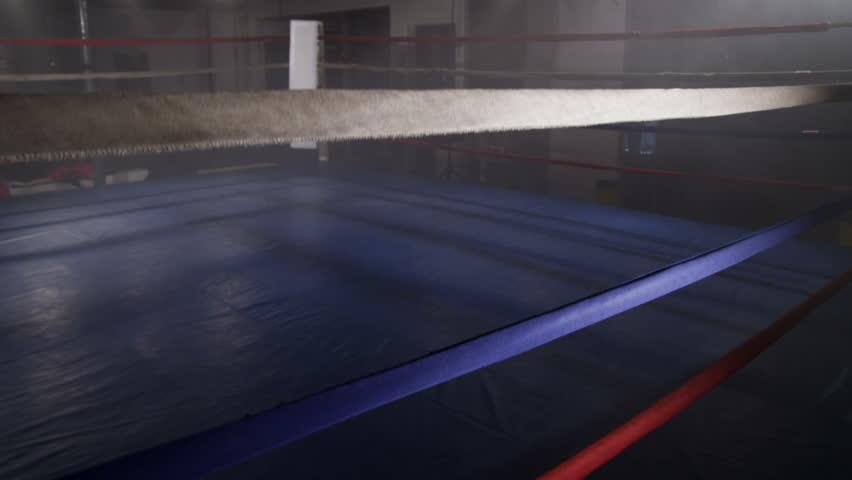 Empty boxing ring, jib up