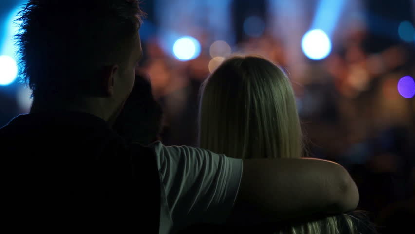 Close up of young couple on a party