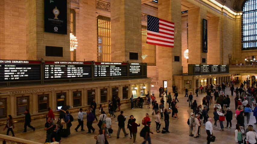 NEW YORK CITY - JUN 11: Interior of Grand Central Station on June 11, 2011 in New York City, NY. The terminal is the largest train station in the world by number of platforms having 44.