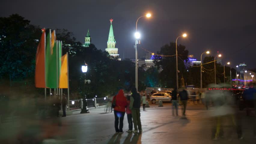 Manezhnaya street in Moscow, Russia