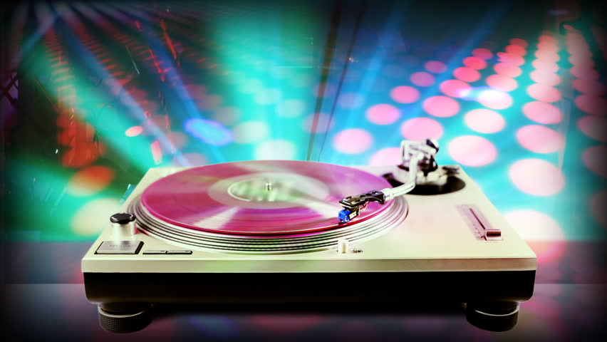 Clip 465481 Stock Footage Dj Record Turntable With Blurred Disco Scene In Background on 16 X 20 Floor Plans