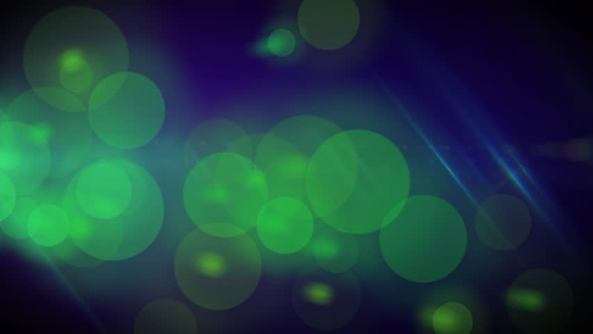 Green Blue Bokeh Abstract Background