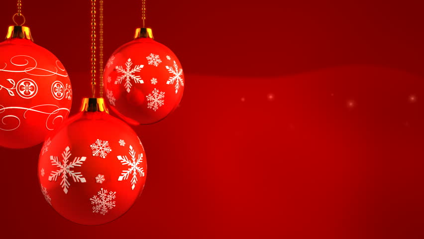 Christmas Ornaments On Red Background Stock Footage Video 100 Royalty Free 4668314 Shutterstock
