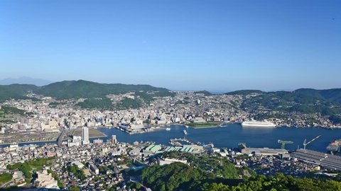 Time lapse of Nagasaki city, Japan.taken from the top of Mt.Inasa.