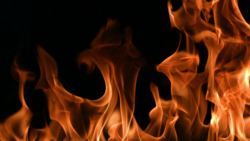 Closeup of flames burning on black background, slow motion | Shutterstock HD Video #4746134