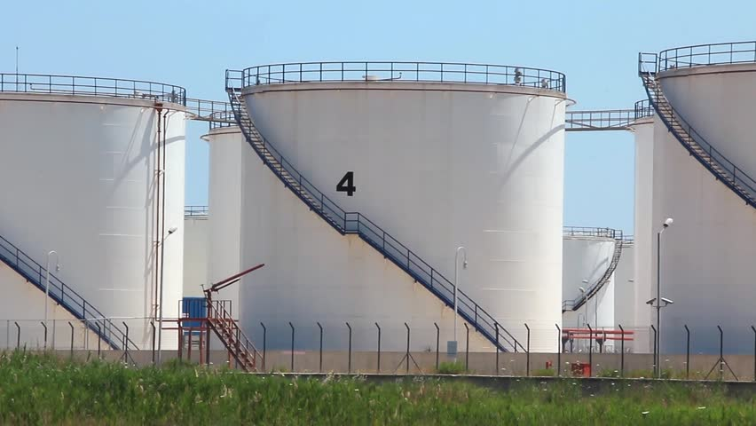 Oil storage tanks in Antalya, Turkey