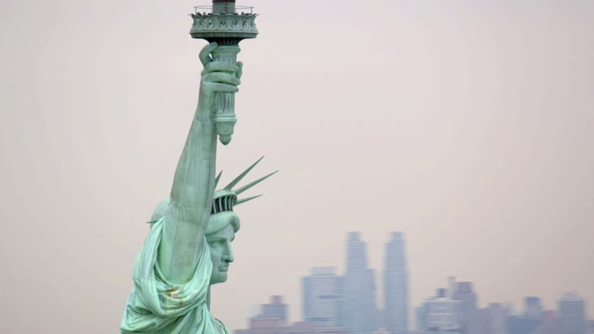 Aerial view of Statue of Liberty | Shutterstock HD Video #4785170