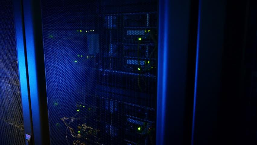 Scientific data center Network connections | Shutterstock HD Video #4790087