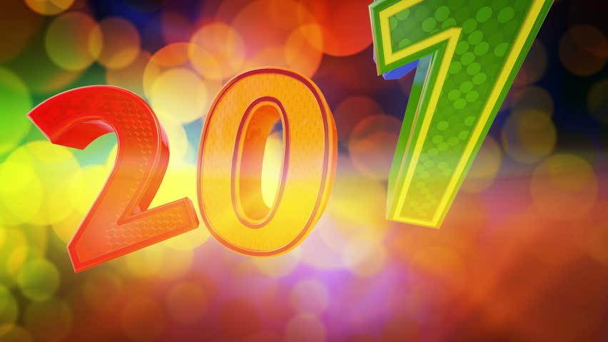 New Year 2014 animated presentation 3d screensaver.