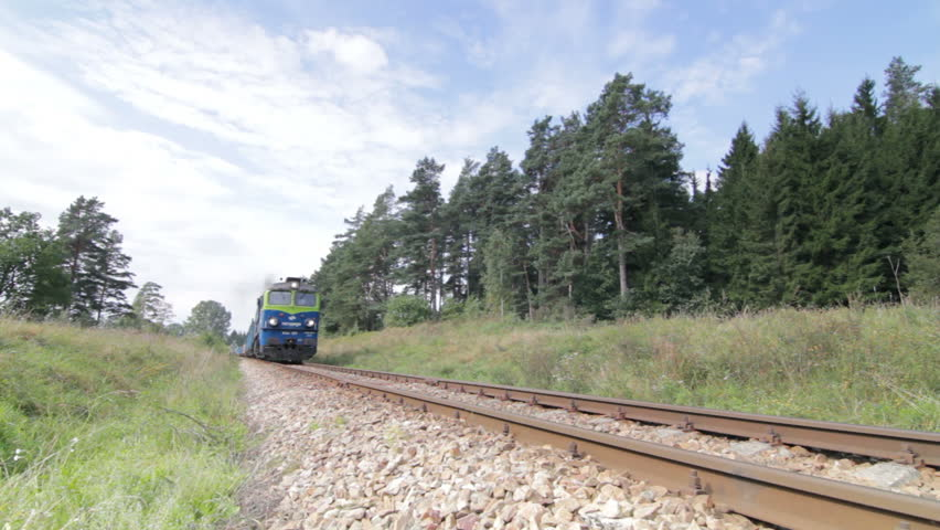 Athens, Greece - August 15th, 2012: Empty cargo train