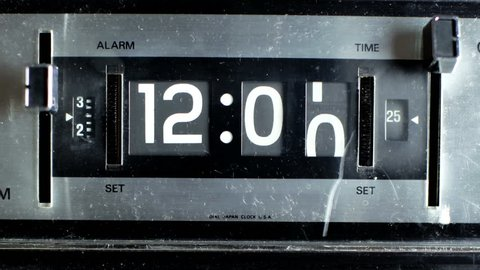 stop motion of an old style flip clock